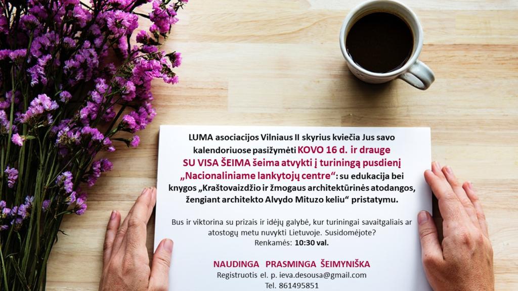 LUMA Vilniaus II skyrius kviečia