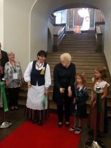 Lietuvos prezidentė aplankė parodą
