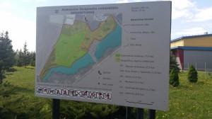 VDU Aleksandro Stulginskio  akademijos ARBORETUMO žemėlapis