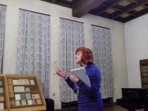 Aktorė skaito ištraukas iš VI t. tomo