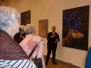 Klausomės dailininkės pasakojimo apie paveikslą ir jo kūrėją