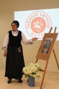 Lina Sinkevičienė atidaro renginį Kačerginėje